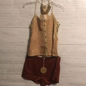 Gimmicks buckle top and shorts